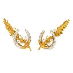 Garrard Horse Shoe Earrings