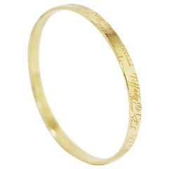 Tiffany & Co. Notes 18 Carat Gold Bangle
