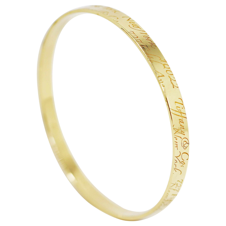 Tiffany & Co. Notes 18 Carat Gold Bangle