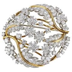 12.75 Carat Diamond Oscar Heyman Circle Pin