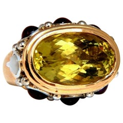 25 Carat Natural Lemon Quartz Vintage Ring 19 Karat Vintage Middle East 52 Gram