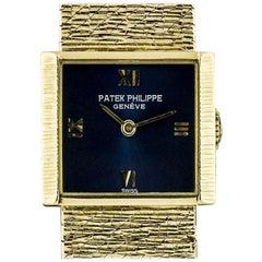 Patek Philippe Vintage Blue Dial Manual Wind Wristwatch 3322