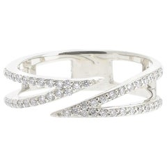 0.25 Carat GVS Round Diamond Cocktail Ring 18 White Karat Gold Fashion Ring