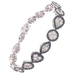 Ruchi New York Black and White Diamond Modern Illusion Tennis Bracelet