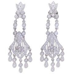 Midcentury Diamond Chandelier Earrings