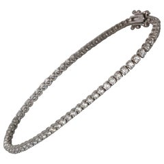 2.80 Carat Tw Approximate Diamond Tennis Bracelet 18 Karat Gold, Ben Dannie