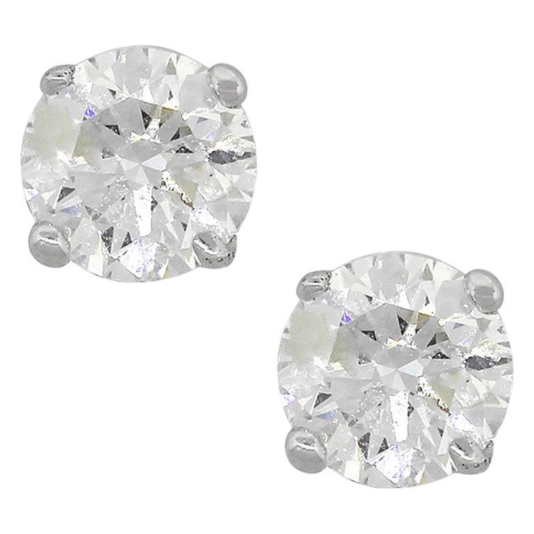 Round Brilliant Diamond Studs For Sale