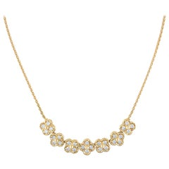 Van Cleef & Arpels 18 Karat Yellow Gold Rope Link Diamond Necklace