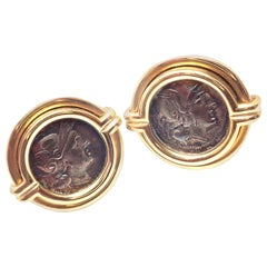 Bulgari Ancient Roman Coin Gold Cufflinks