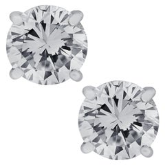 Vivid Diamonds Handmade GIA Certified 2.31 Carat Diamond Stud Earrings