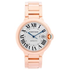 Cartier Ballon Bleu Men's Large 18 Karat Rose Gold Watch W69005Z2