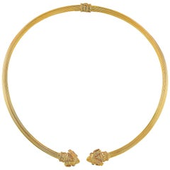 Greek Rams' Head Collar Necklace