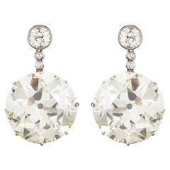 Antique Edwardian Diamond Drop Earrings