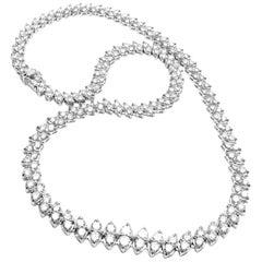 Estate Platinum 14 Carat Diamond Necklace