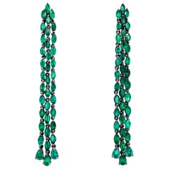 Ruchi New York Drop Emerald Earrings