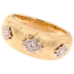 18 Karat Gold Diamond Dome Band Ring