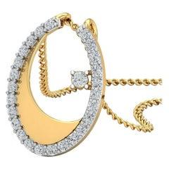 1 Carat Diamond Pendant Necklace 18 Karat Yellow Gold