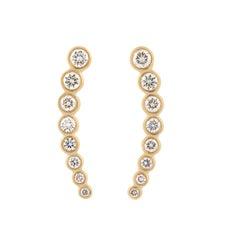 Brilliant 18 Karat Gold and Diamond Ear Crawler