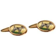 Gentleman's Art Deco Novelty Cufflinks, circa 1940s