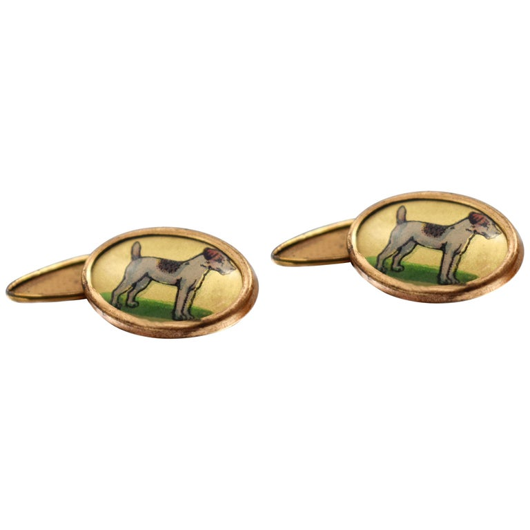 Gentleman's Art Deco Novelty Cufflinks, circa 1940s For Sale
