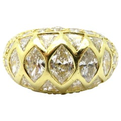 Designer JB Star 18 Karat Yellow Gold 3.00 Carat Diamond Band Ring