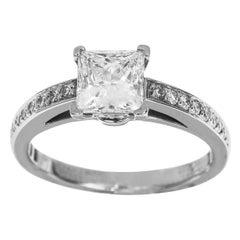 Tiffany & Co. Grace 0.85 Carat Square Cut Diamond Platinum Ring US 4.25