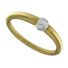 Bangle Yellow 18 Karat Gold and Diamonds