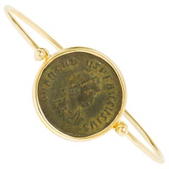 Dubini Ancient Bronze Coin 18 Karat Yellow Gold Bracelet