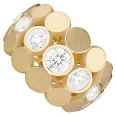 Carelle Disco Dots Diamond Band Ring in 18K YG and 1.28 Carat Diamond