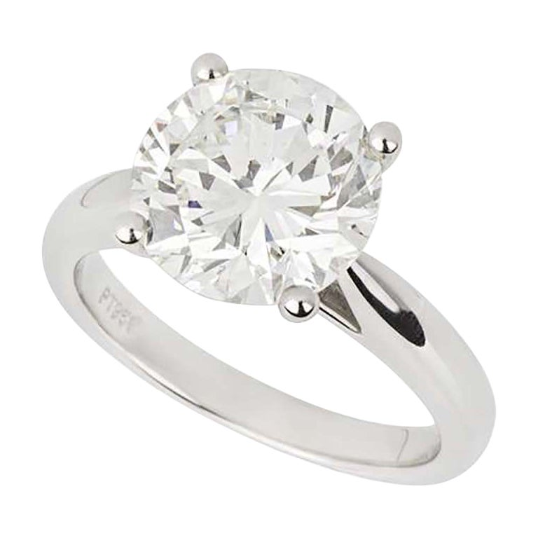 GIA Certified Diamond Solitaire Engagement Ring 3.93 Carat H/VS1