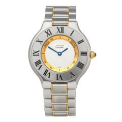 Cartier Must de 21 Stainelss Steel and 18K Yellow Gold 1330