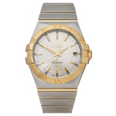 Omega Constellation Stainless Steel and 18K Yellow Gold 12320356002002 Wristwatc