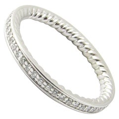 David Yurman Platinum Eden Diamond Eternity Wedding Band with Box