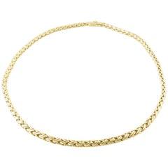 Tiffany & Co. 14 Karat Yellow Gold Flexible Snake Chain Choker