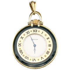 Cartier Ruby Bloodstone and 18 Karat Gold Pocket Watch