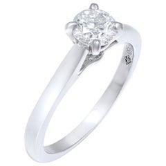 Cartier 0.41 Carat Platinum 1859 Solitaire Engagement Ring