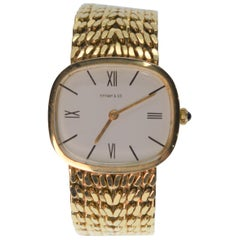 18K Tiffany Yellow Gold Swiss 17J Mechanical Watch