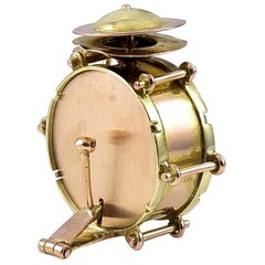 Gold Base Drum Charm