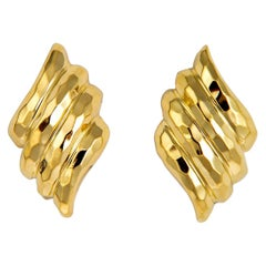 Henry Dunay Faceted Collection Gold Earrings