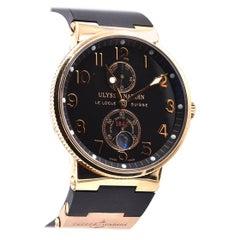 Ulysse Nardin 18 Karat Rose Gold Marine Chronometer Watch Ref. 1186-126