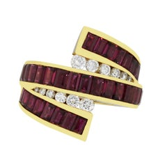 Charles Krypell Ruby and Diamond Ring