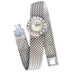 Piaget 1960s 18 Karat White Gold 2 Carat VS1 Diamond Mesh Bracelet Watch