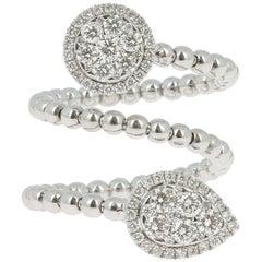 0.83 Carat GVS Round Diamond Ring White Gold 18 Karat Cocktail Rings