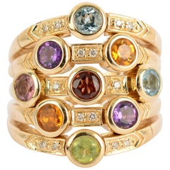 Sonia B Multiband Ring with Gemstones