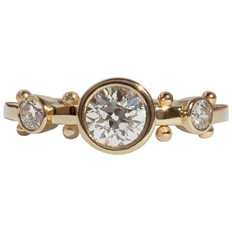 M. Hisae White Diamond Trinity Engagement Ring For Sale