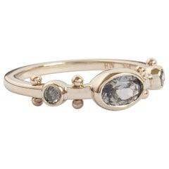M. Hisae Violet Sapphire & Grey Diamond Trinity Ring