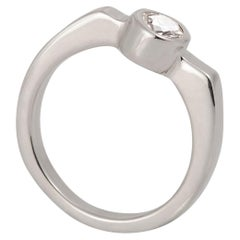 M. Hisae 0.25CT White Diamond Modernist Engagement Ring