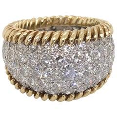 3.00 Carat Diamond Pave Set & 18 Karat Yellow Gold Ring - Ring Size 5.5