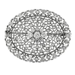 White Gold and Diamonds Brooch