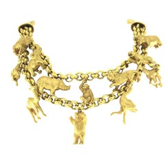 18 Karat Animals Necklace